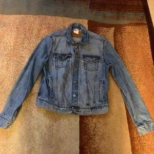 H&M Blue Denim Jean Jacket Men's Size Large